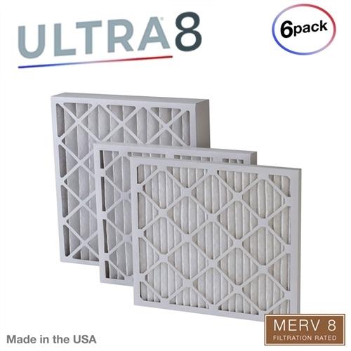 16x30x1 MERV 8 Pleated AC Furnace Air Filters 6 PACK